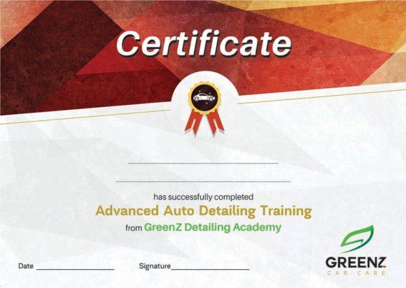 GreenZ Certificate