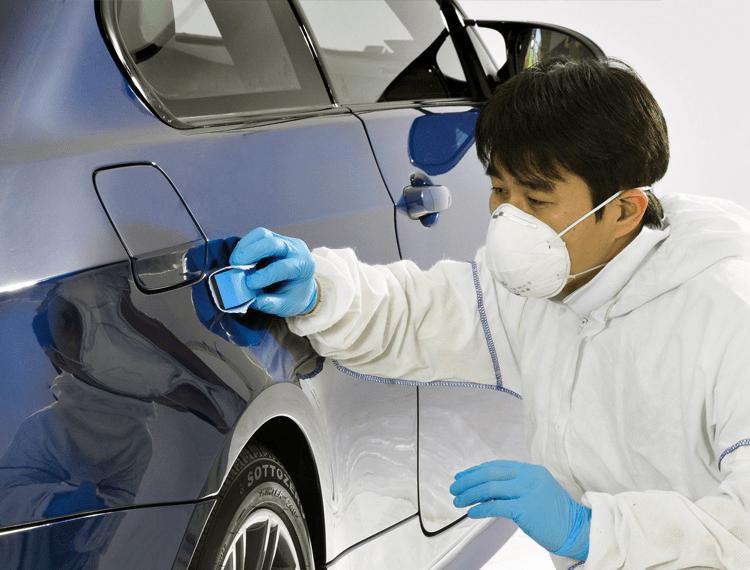 Ceramic coating application