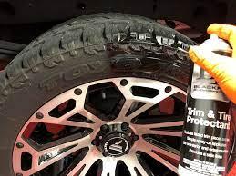 Blackfire Trim & Tire Protectant Application 1