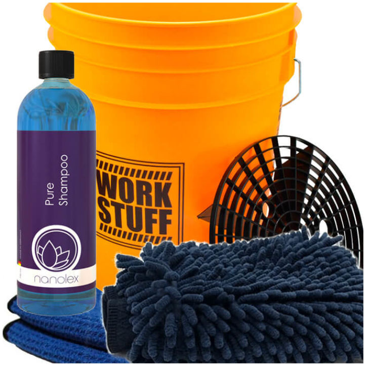 GreenZ Car Washing Kit Advanced with Buckets & Grit Guard