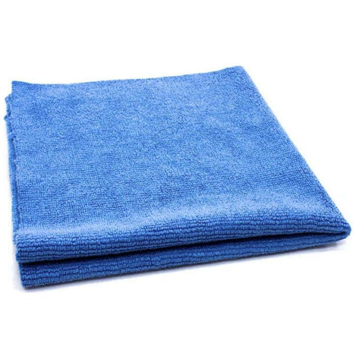 GreenZ Edgeless Pearl Polish Microfiber Towel for Car Blue