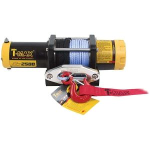 T-Max 2500LB 12V Electric Winch Spooled with Wire Rope