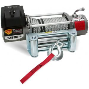 T-Max X-Power Series 12500LB 12V Electric Winch Spooled with Wire Rope
