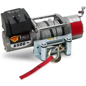T-Max X-Power Series 6500LB 12V Electric Winch Spooled with Wire Rope